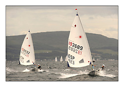 Lucia Reyes, ESP 192692 and Fatima Reyes, ESP 192689..The Laser Radial World Championships are taking place at Largs, Scotland GBR. Practice Race, Training and Opening Parade..118 Women from 35 different nations compete in the Olympic Women's Laser Radial fleet and 104 Men from 30 different nations. .All three 2008 Women's Laser Radial Olympic Medallists are competing. .The Laser Radial World Championships take place every year. This is the first time they have been held in Scotland and are part of the initiaitve to bring key world class events to Britain in the lead up to the 2012 Olympic Games. .The Laser is the world's most popular singlehanded sailing dinghy and is sailed and raced worldwide. ..Further media information from .laserworlds@gmail.com.event press officer mobile +44 7775 671973  and +44 1475 675129 .