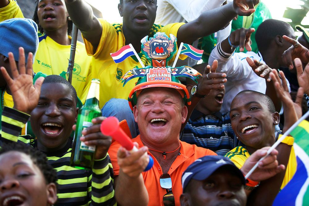 Dutch supporters at the world cup soccer in South Africa<br /> Oranjesupporter in Zuid-Afrika, tijdens het WK Voetbal.