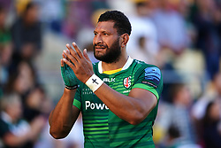 London Irish's Steve Mafi applauds the fans after the Gallagher Premiership match at the Brentford Community Stadium, London. Picture date: Sunday September 26, 2021.