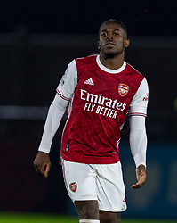 LONDON, ENGLAND - Friday, October 30, 2020: Arsenal's Tim Akinola during the Premier League 2 Division 1 match between Arsenal FC Under-23's and Liverpool FC Under-23's at Meadow Park. Liverpool won 1-0. (Pic by David Rawcliffe/Propaganda)