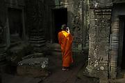 A monk in Ankor Wat Temple, Siem Reap, Cambodia. PHOTO TIAGO MIRANDA