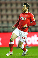 Charlton Athletic forward Conor Washington (14) during the EFL Sky Bet League 1 match between Wigan Athletic and Charlton Athletic at the DW Stadium, Wigan, England on 2 March 2021.