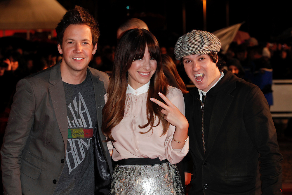 SIMPLE PLAN and Marie Mai arrive for the NRJ Music Awards 2012 at Palais des Festivals on January 28, 2012 in Cannes.Simple Plan et Marie Mai arrivent pour la NRJ Music Awards 2012 au Palais des Festivals le Janvier 28 2012 à Cannes.