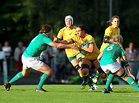 Rugby Union - 2017 Women's Rugby World Cup (WRWC) - Pool C: Ireland vs. Australia<br /> <br /> Australia's Mollie Gray in action against Ireland's Ailis Egan, at the UCD Bowl, Dublin.<br /> <br /> COLORSPORT/KEN SUTTON