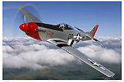 P-51D Mustang, aerial photograhy