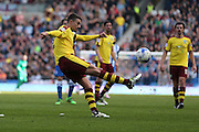 Burnley defender Matthew Lowton (2) during the Sky Bet Championship match between Brighton and Hove Albion and Burnley at the American Express Community Stadium, Brighton and Hove, England on 2 April 2016.