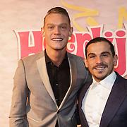 NLD/Amsterdam/20150201 - Premiere Heerlijk duurt het Langst, Ferry Doedens en partner Nuno Azevedo