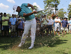 September 21, 2017 - Atlanta, GA, USA - Brooks Koepka hits from the rough to the 1st green in the opening round of the Tour Championship on Thursday, Sept. 21, 2017, at Eastlake Golf Club in Atlanta. (Credit Image: © Curtis Compton/TNS via ZUMA Wire)
