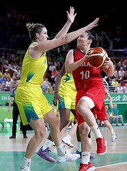 England's Eilidh Simpson (right) in action in the Women's Gold Medal Game at the Gold Coast Convention and Exhibition Centre during day ten of the 2018 Commonwealth Games in the Gold Coast, Australia.