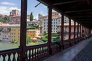 The Ponte degli Alpini over the River Brenta in north Italian town of Bassano