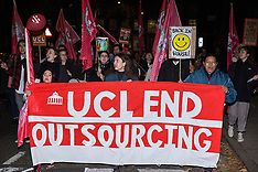 2019-10-29 UCL End Outsourcing protest by IWGB
