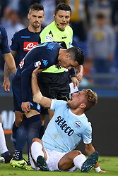 September 20, 2017 - Rome, Italy - A discussion between Jose Maria Callejon of Napoli and Ciro Immobile of Lazio  during the Serie A match between SS Lazio and SSC Napoli at Stadio Olimpico on September 20, 2017 in Rome, Italy. (Credit Image: © Matteo Ciambelli/NurPhoto via ZUMA Press)