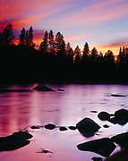Sunset over the Big Hole River, Beaverhead National Forest, Montana.