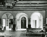 1932 The lobby of the Hollywood YMCA at Selma Ave. and Hudson Ave. (now Schrader Blvd.)