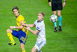November 20, 2018 - Stockholm, SWEDEN - 181120 Kristoffer Olsson of Sweden and Iury Gazinsky of Russia during the Nations League football match between Sweden and Russia on November 20, 2018 in Stockholm  (Credit Image: © Simon HastegRd/Bildbyran via ZUMA Press)