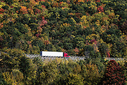 Truck on the road enroute to delivery, Covington, Pennsylvania, USA