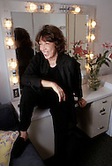Comedic actress LILY TOMLIN backstage in her dressing room at the Ahmanson Theatre in Los Angeles before a July 4th show.