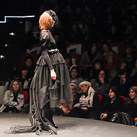 Models on the catwalk  during a fashion show for ultra orthodox women.