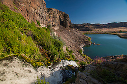 Ancient Lake Falls plunges 50 feet to the shores of Ancient Lake Below, George, Washington, US