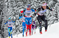17-12-2012 SLO: FIS 15km Cross Country World Cup, Rogla<br /> JAPAROV Dmitriy (RUS), FREEMAN Kris (USA) at Men 15 km Classic Mass Start <br /> <br /> *** NETHERLANDS ONLY ***