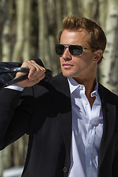 sexy man in sunglasses outdoors