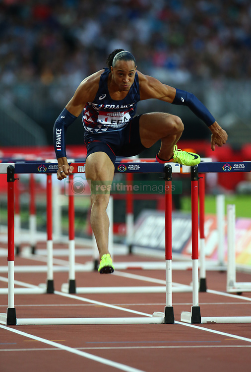 July 14, 2018 - London, United Kingdom - Pascal Martinot-Lagarde  of France (WINNER) compete in the 110m Hurdles Men during Athletics World Cup London 2018 at London Stadium, London, on 14 July 2018  (Credit Image: © Action Foto Sport/NurPhoto via ZUMA Press)