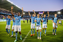 August 1, 2018 - MalmÅ, Sweden - 180801 Players of MalmÅ¡ FF celebrates after winning the UEFA Champions League qualifying match between MalmÅ¡ FF and Cluj on August 1, 2018 in MalmÅ¡..Photo: Ludvig Thunman / BILDBYRN / kod LT / 35511 (Credit Image: © Ludvig Thunman/Bildbyran via ZUMA Press)