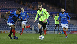 George Cooper of Peterborough United in action against Portsmouth - Mandatory by-line: Joe Dent/JMP - 22/01/2019 - FOOTBALL - Fratton Park - Portsmouth, England - Portsmouth v Peterborough United - Checkatrade Trophy