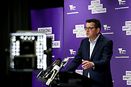 Victorian Premier Daniel Andrews speaks to the media during a press conference in Melbourne, Australia. Victorian Premier Daniel Andrews has announced a 'State of Disaster' and increased restrictions for Victoria. The Premier announced that 671 new cases of COVID were detected, 73 connected to outbreaks, 598 under investigation and seven people died overnight. State 3 restrictions will be reintroduced to regional Victoria. An 8pm to 5am curfew will be introduced starting today. (Photo by Dave Hewison/ Speed Media)