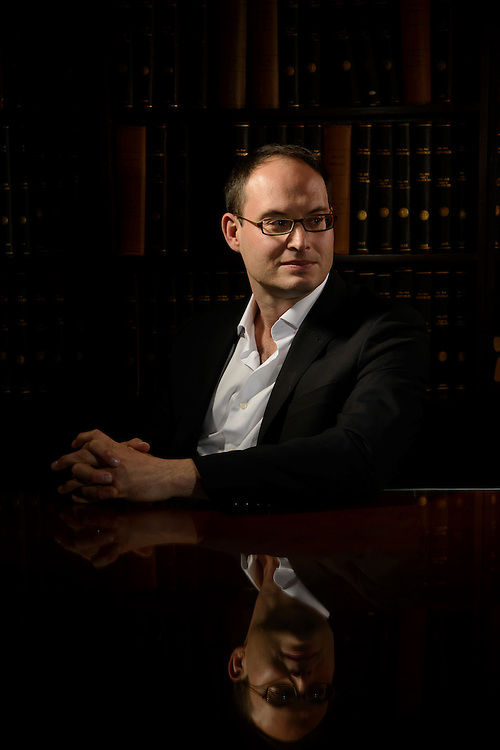 """Photo by Matt Roth.Assignment ID: 10135116A..Franklin Foer has returned to his post as editor of """"The New Republic"""" in the wake of the magazine's relaunch. He is photographed in the magazine's offices in Washington, D.C. on Monday, November 26, 2012..."""