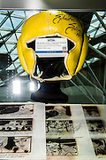 Headguard from Rocky. A collection of contemporary movie props, memorabilia and costumes to be auctioned on 16 October. It will include 375 items collected over 10 years and potentially worth more than £1 million. Highlights include:  Back to the Future: Part II -  Marty McFly's (Michael J. Fox) Mattel Hoverboard (estimated at £14,000 - £18,000); Willy Wonka and the Chocolate Factory - Wonka's (Gene Wilder) Golden Ticket (£15,000 - £20,000); Batman Forever – Remote control Batmobile model miniature (£20,000 - £30,000); Rush - 'Niki Lauda's (Daniel Brϋhl) Prop Ferrari 312T2 Formula One Car (£20,000 - £30,000); memorabiliaStar Wars: Return of the Jedi - Biker Scout helmet (£8,000-£10,000); and The Shining - Jack and Wendy's (Jack Nicholson & Shelly Duvall) Overlook Hotel Bed (£4,000-£6,000).