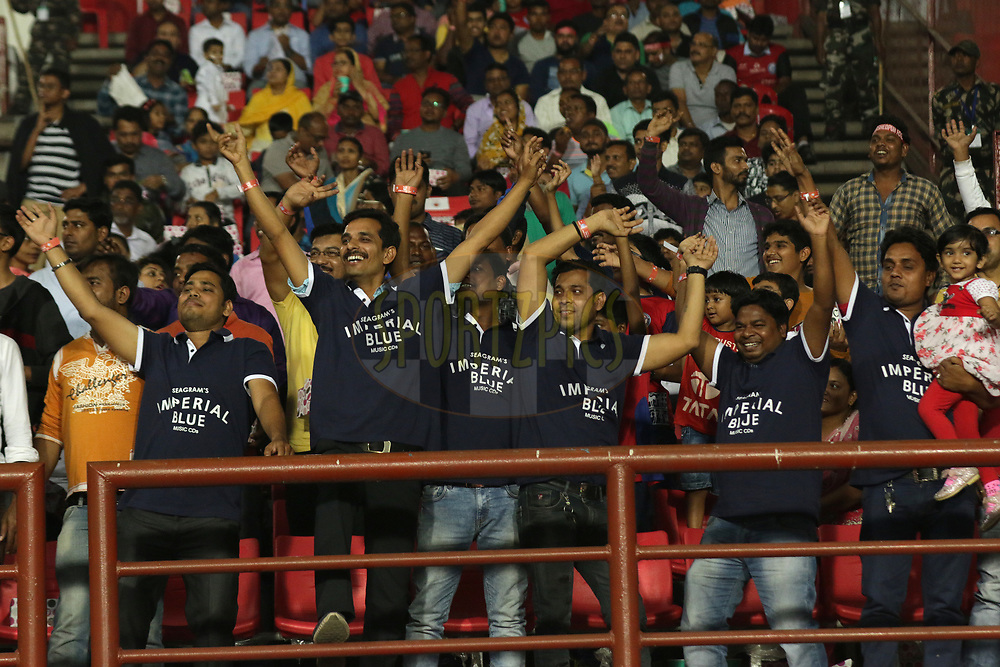Imperial Blue Fan Army during match 25 of the Hero Indian Super League 2018 ( ISL ) between Jamshedpur FC and FC Goa held at JRD Tata Sports Complex, Jamshedpur, India on the 1st November  2018<br /> <br /> Photo by Saikat Das /SPORTZPICS for ISL