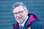Craig Levein, manager of Heart of Midlothian is all smiles before the Betfred League Cup semi-final match between Heart of Midlothian FC and Celtic FC at the BT Murrayfield Stadium, Edinburgh, Scotland on 28 October 2018.