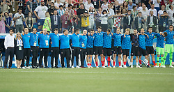 July 1, 2018 - Nizhny Novgorod, Russia - Croatia team line-up during the 2018 FIFA World Cup Russia Round of 16 match between Croatia and Denmark at Nizhny Novgorod Stadium on July 1, 2018 in Nizhny Novgorod, Russia. (Credit Image: © Foto Olimpik/NurPhoto via ZUMA Press)