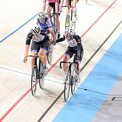 16-12-2016: Wielrennen: NK baanwielrennen: Apeldoorn<br /> APELDOORN (NED) wielrennen   <br /> Kirsten Wild en Nina Kessler zijn Nederlands kampioene op de koppelkoers geworden. Daarmee prolongeerden zijn hun nationale titel.<br /> Zilver was voor Kelly Markus en Winanda Spoor, derde werd het koppel Bente van Teeseling en Amber van der Hulst.