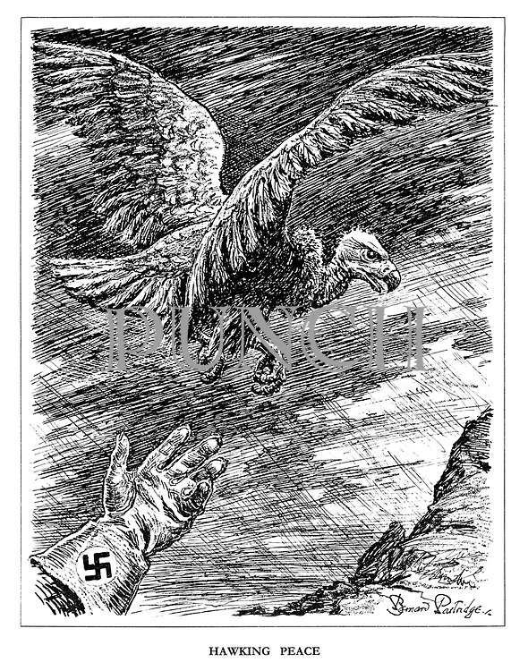 Hawking Peace. (A Nazi bird handler releases a fledgling vulture into the sky)