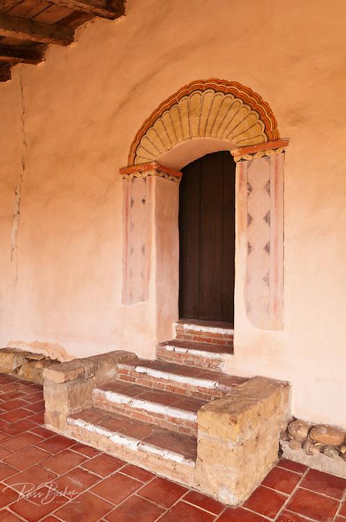 Steps and doorway, Mission San Antonio de Padua (3rd California Mission - 1771), California