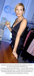 Model CATALINA GUIRADO at a party in London on 13th November 2002.PFG 24