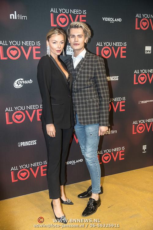 NLD/Amsterdam/20181126 - premiere All You Need Is Love, Koen Kardashian en .......