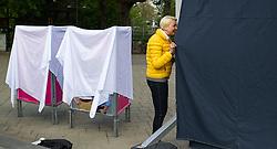 11.04.2014, Resselpark, Wien, AUT, NEOS, Plakatpraesentation zur EU-Wahl. im Bild NEOS Spitzenkandidatin zur EU Wahl Angelika Mlinar // NEOS Topcandidate for EU Election Angelika Mlinar during presentation of placards for EU Election at Resselpark in Vienna, Austria on 2014/04/11. EXPA Pictures © 2014, PhotoCredit: EXPA/ Michael Gruber