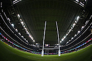 a general view inside the stadium before the game. Rugby World Cup 2015 pool c match, New Zealand v Georgia at the Millennium Stadium in Cardiff, South Wales  on Friday 2nd October 2015.<br /> pic by  Andrew Orchard, Andrew Orchard sports photography.