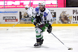 Andrej Tavzelj of Olimpija at 2nd final match of Slovenian National Championships  between HK Acroni Jesenice and HDD Tilia Olimpija, on March 17, 2009, in Podmezaklja, Jesenice, Slovenia. Acroni Jesenice won after free shots 2:1 and are leading 2:0. They need to win 2-times more. (Photo by Vid Ponikvar / Sportida)