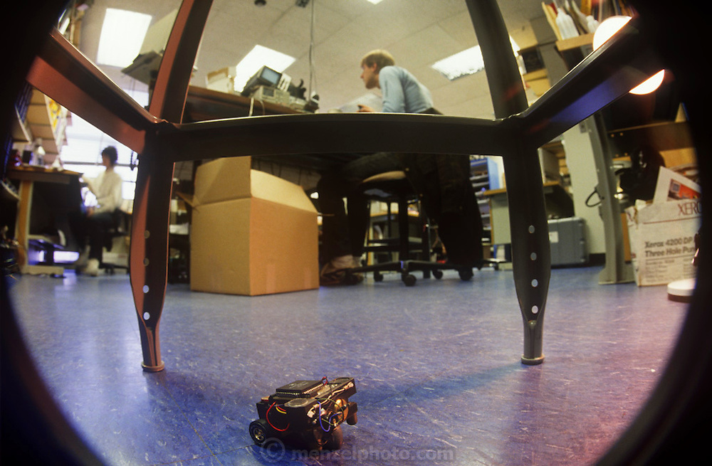 """""""Squirt"""" is a robot that hides in the dark, M.I.T., Insect Robot Lab, Cambridge, MA"""