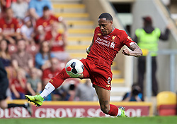 BRADFORD, ENGLAND - Saturday, July 13, 2019: Liverpool's Nathaniel Clyne during a pre-season friendly match between Bradford City AFC and Liverpool FC at Valley Parade. (Pic by David Rawcliffe/Propaganda)  BRADFORD, ENGLAND - Saturday, July 13, 2019: Liverpool's xxxx during a pre-season friendly match between Bradford City AFC and Liverpool FC at Valley Parade. (Pic by David Rawcliffe/Propaganda)