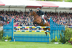 Klimke Ingrid, (GER), Horseware Hale Bob<br /> Jumping<br /> Mitsubishi Motors Badminton Horse Trials - Badminton 2015<br /> © Hippo Foto - Jon Stroud