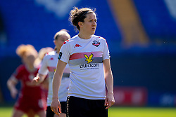 BIRKENHEAD, ENGLAND - Easter Sunday, April 4, 2021: Lewes' Nicola Cousins during the FA Women's Championship game between Liverpool FC Women and Lewes FC Women at Prenton Park. (Pic by David Rawcliffe/Propaganda)