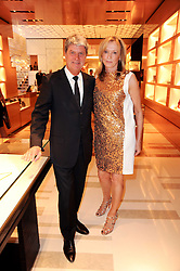 YVES CARCELLE and SUE WHITELEY at a party to celebrate the opening of the Louis Vuitton Bond Street Maison, New Bond Street, London on 25th May 2010.