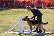 Arkansas, AR, USA, Airpower Arkansas 2006 was held at the Little Rock Air Force base November 2006 participation of the Air Force, Navy, National Guard and civilian aerobatics aviators. A soldier and his trained army dog.