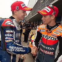 2011 MotoGP World Championship, Round 2, Jerez, Spain, 3 April 2011, Jorge Lorenzo, Casey Stoner