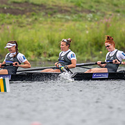 Grace Prendergast, Kelsey Bevan, Lucy Spoors, Emma Dyke, Ella Greenslade   New Zealand elite  Womens Eight<br /> <br /> Compete in the A Finals at FISA World Rowing Cup III on Sunday 14 July 2019 at the Willem Alexander Baan,  Zevenhuizen, Rotterdam, Netherlands. © Copyright photo Steve McArthur / www.photosport.nz